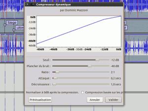 Le compresseur dynamique d'Audacity