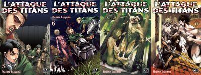 L'Attaque des Titans n°5-6-7-8